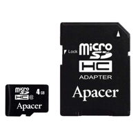 Apacer Micro SecureDigital HC card 4GB class 6