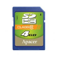 Apacer SecureDigital High Capacity card 4GB Class6