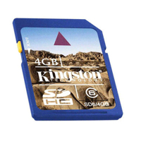 Kingston SD High Capacity card 4GB Class6