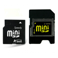 MP3 prehrávač do 5GB - A-DATA Mini SecureDigital card 2GB Speedy +adapter