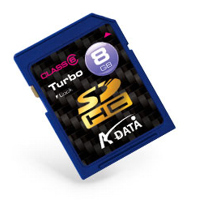 Klasické SD karty (SecureDigital card) - A-data SecureDigital High Capacity card 8GB Class6
