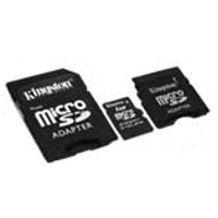 MP3 prehrávač do 5GB - KINGSTON MicroSD Card 1GB + 2 adapter