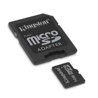 MP3 prehrávač do 5GB - KINGSTON MicroSD Card 2GB + adapter