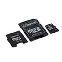 MP3 prehrávač do 5GB - KINGSTON MicroSD HC Card 4GB + 2 adapter